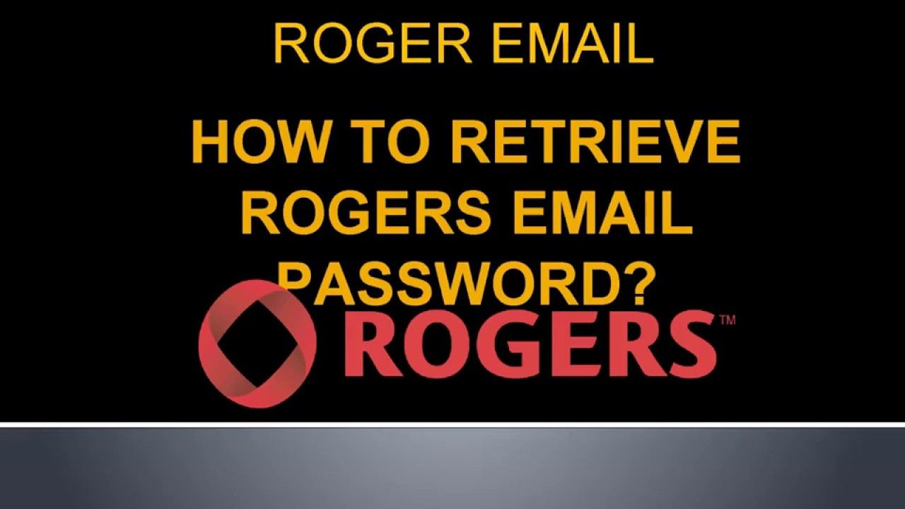 rogers email account recovery