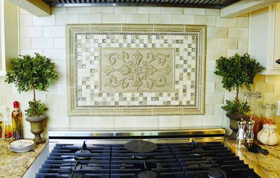 Sonoma Backsplash Tile That Owner Shelly Barnes Found In A Is Used