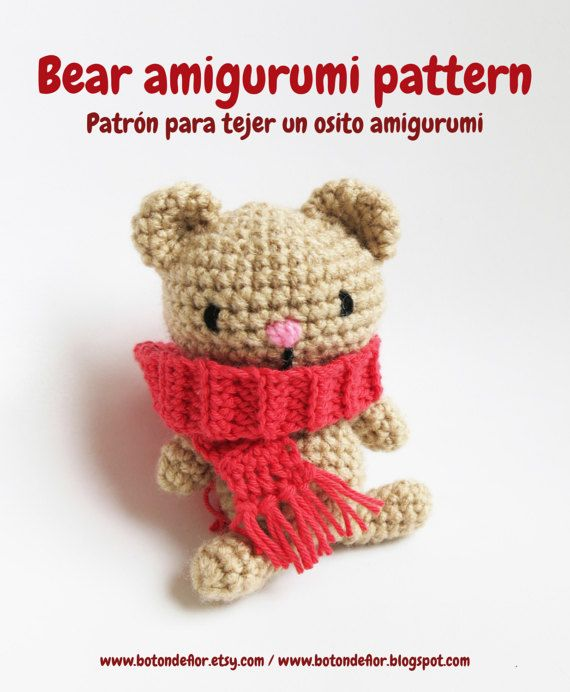 Bear amigurumi pattern, teddy bear crochet pattern, crochet tutorial ...