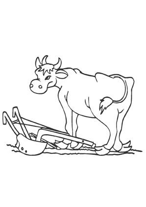 ausmalbild kuh auf dem acker zum kostenlosen ausdrucken und ausmalen. ausmalbilder  
