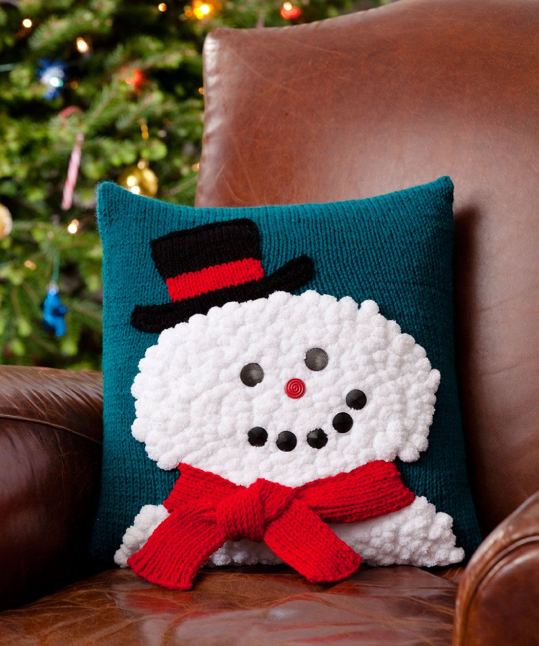 Knitting Pillows For Beginners : Knitting pillow patterns for beginners snowman