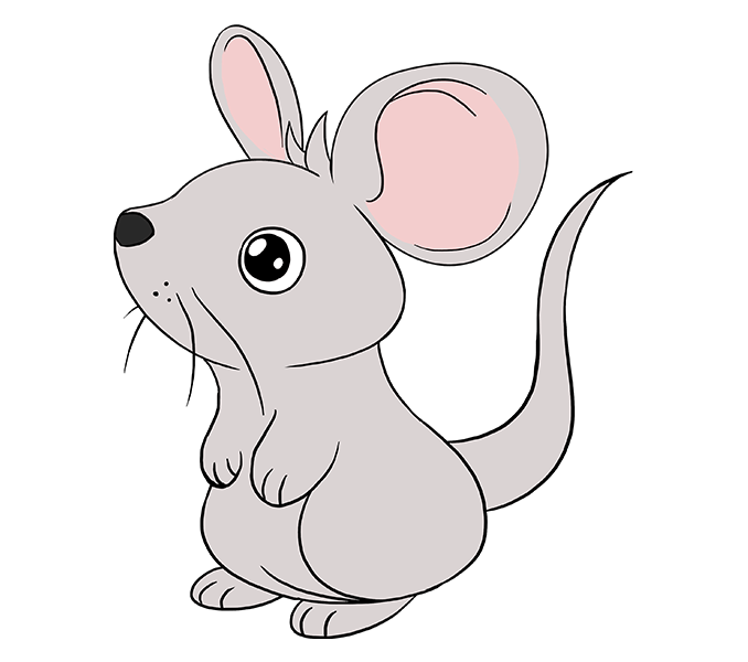 How To Draw A Mouse Step By Step Tutorial Easy Drawing Guides Mouse Drawing Easy Drawings Drawings