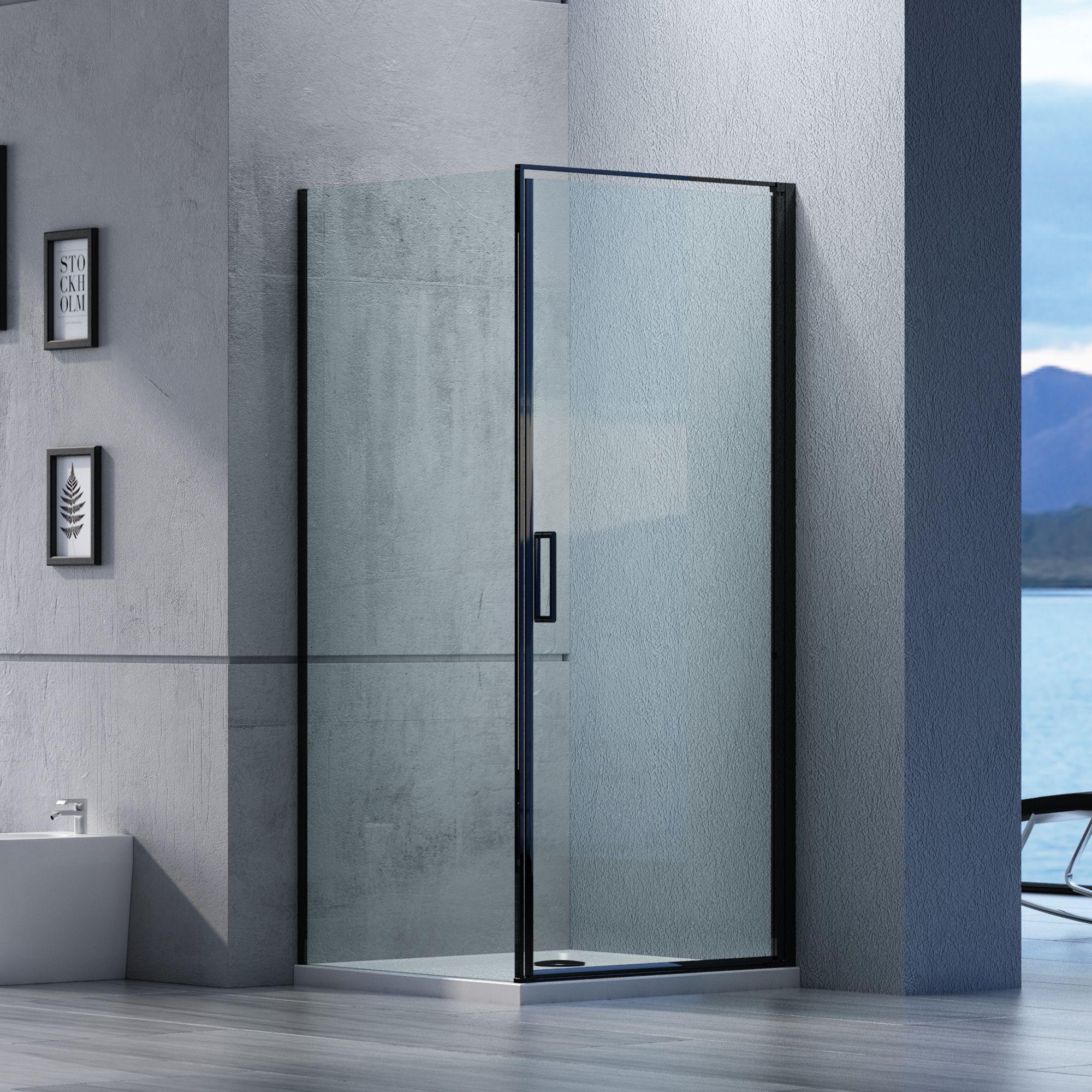 Duschkabine Eckdusche Nano 6mm Echtglas Ex416s Schwarz 100 X 100 X 195 Cm Badewelt Duschkabine Eckdusche Eckduschen Duschkabine Dusche