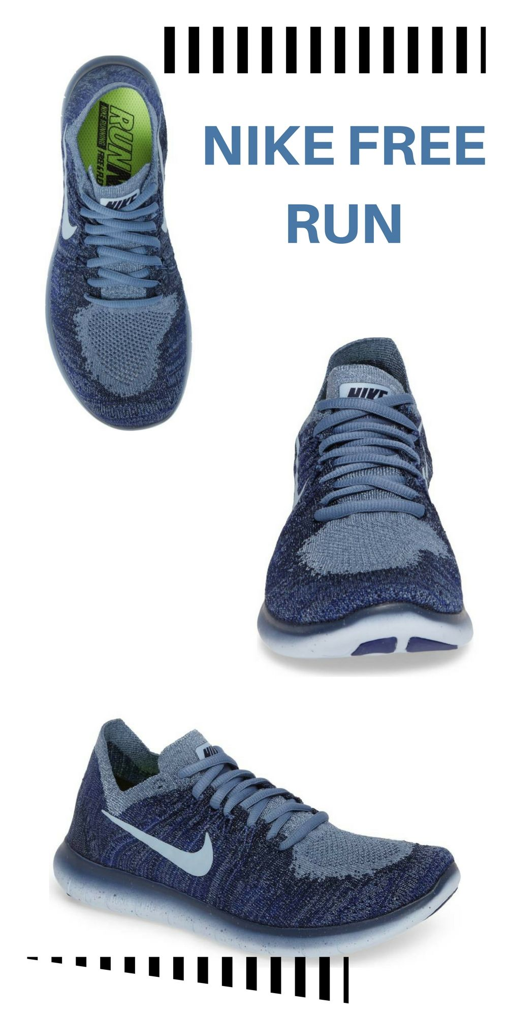 2f277382 #ad Nike Free Run, Sporty, Women, Blue, Red, Black, White, Trendy, Running  Shoe, Fly Knit