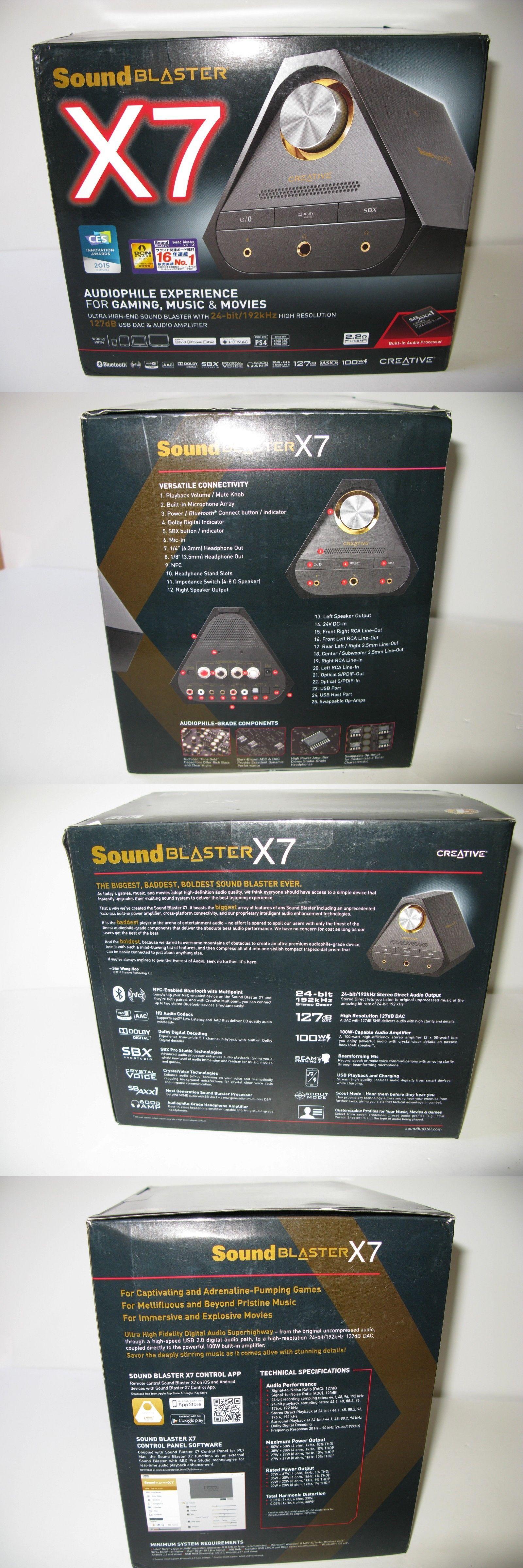 Sound Cards External 75518: Creative Sound Blaster X7 Powerful Audio