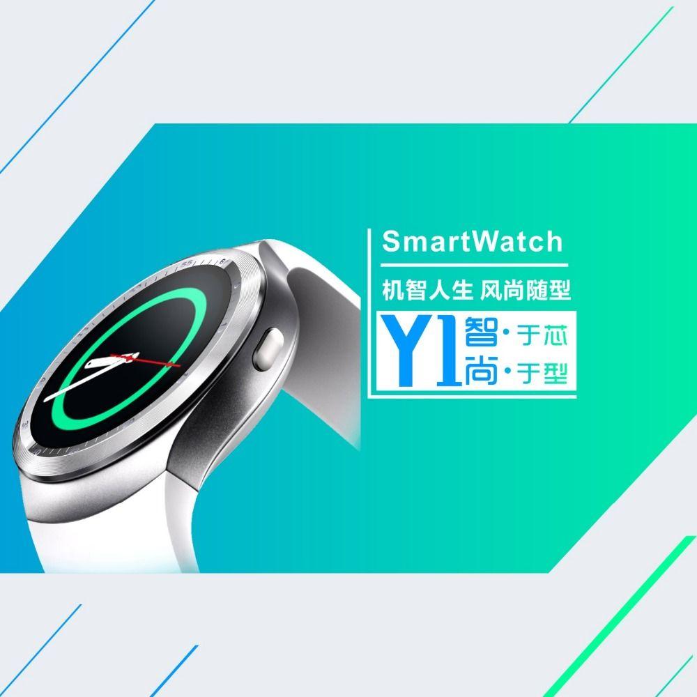Y1 Smart Watch Round Nano SIM TF Card With Whatsapp