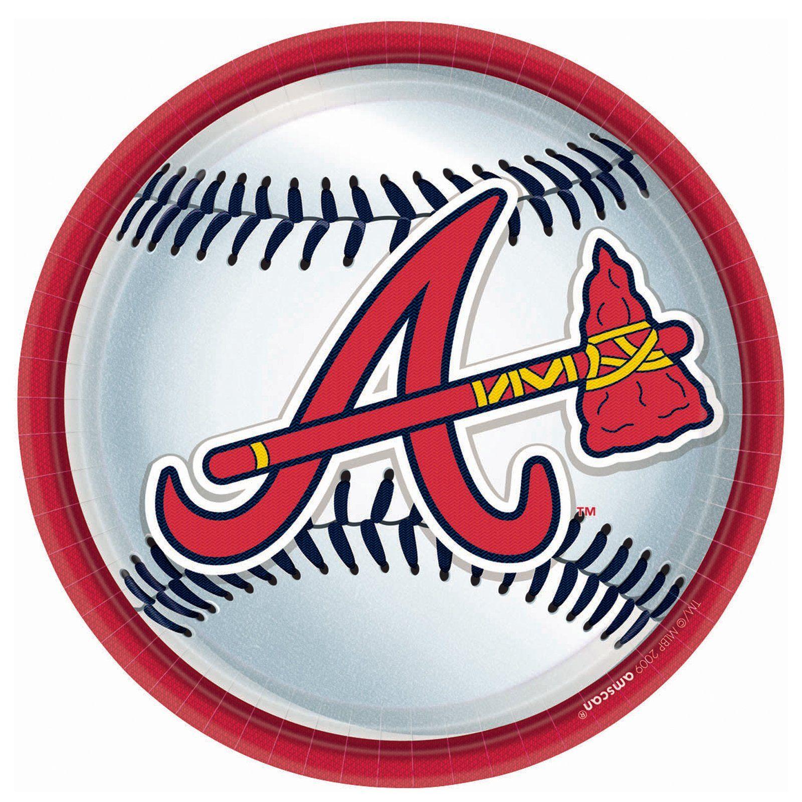 Atlanta Braves Baseball Round Dinner Plates Atlanta Braves Baseball Atlanta Braves Logo Atlanta Braves Party