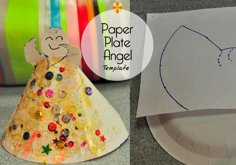Christmas Craft Paper Plate Christmas Angel Be A Fun Mum Other