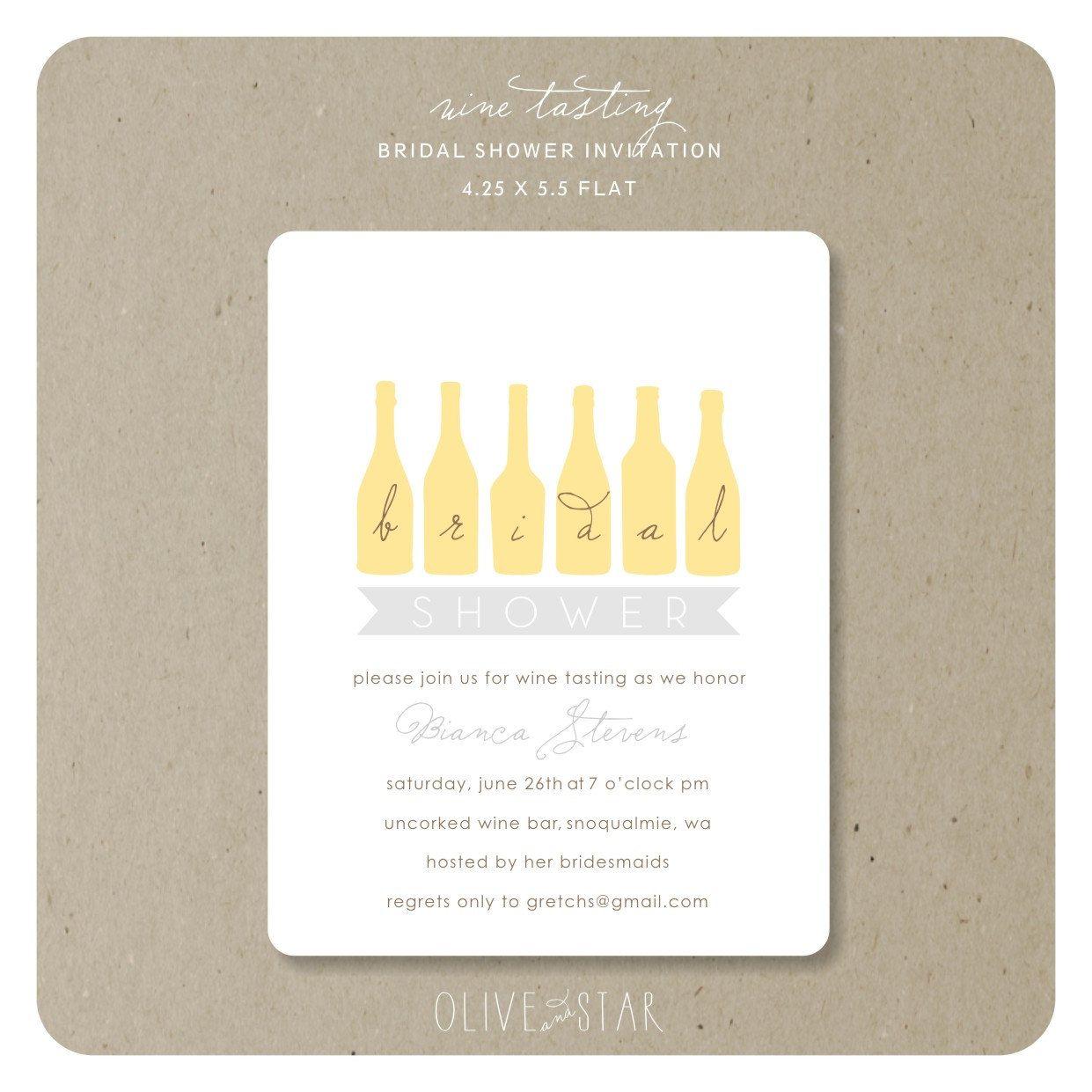 wine tasting : bridal shower invitation set. $16.50, via Etsy ...
