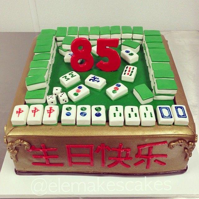 Mahjong Cake Cakes Pinterest Cake Dad Cake And 80th Birthday