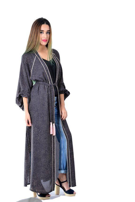 c0d72e050bb3 kimono summer Moroccan caftan floral beachwear handmade kimono maxi dress  comfy loose dress