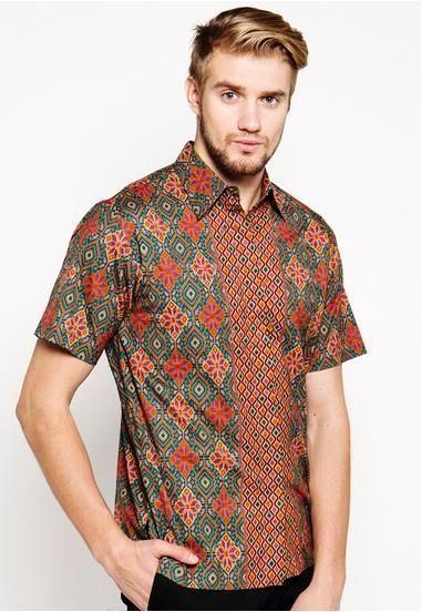 Desain Baju Batik Modern Pria Slim Fit Terbaru | Pria ...