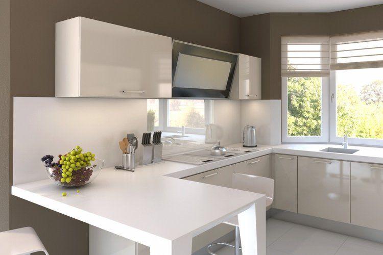 Petite cuisine moderne - quels meubles de cuisine ouverte?