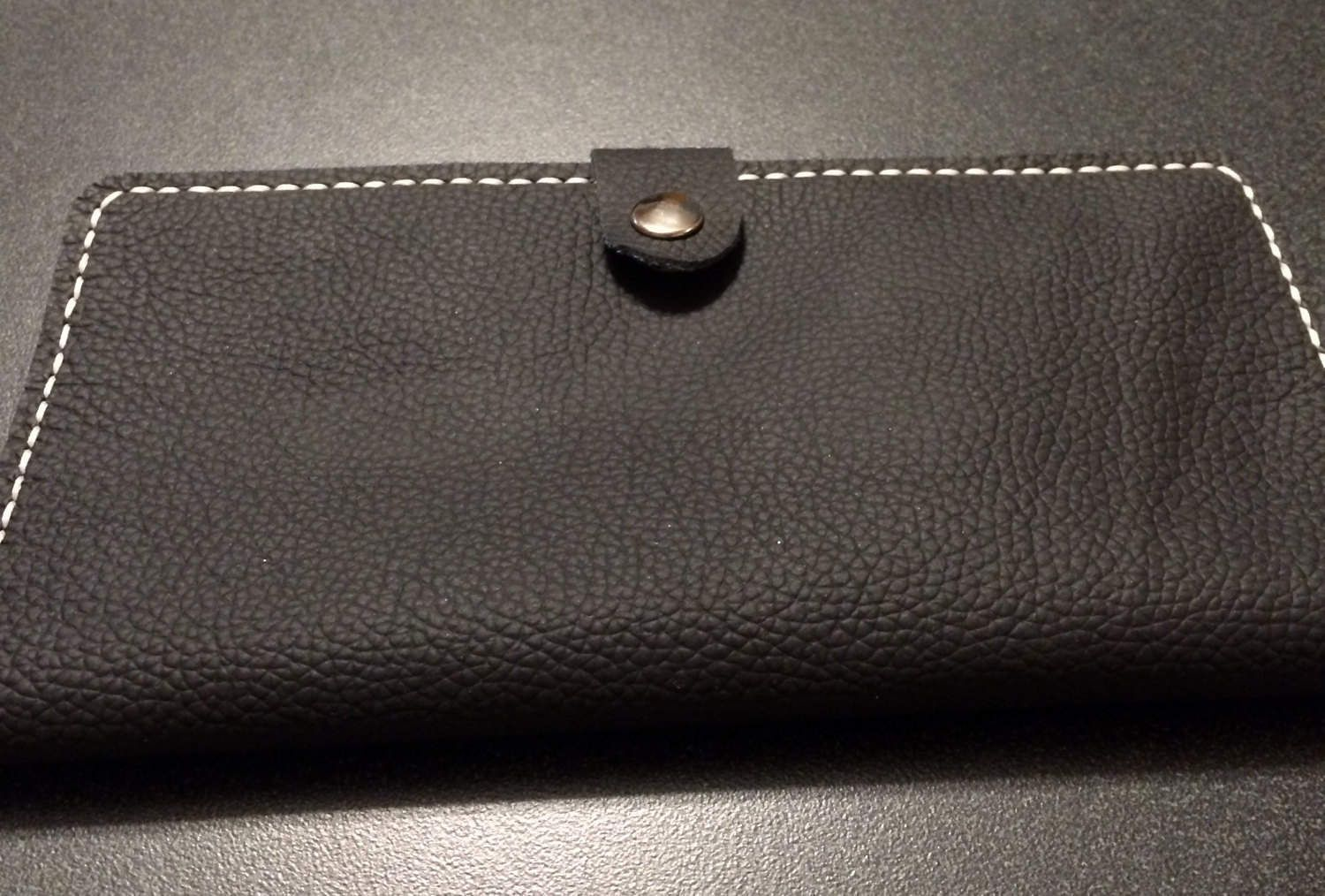 Handmade Leather Checkbook Cover with Snap by SAYERGOODS on Etsy 270d290d349ee