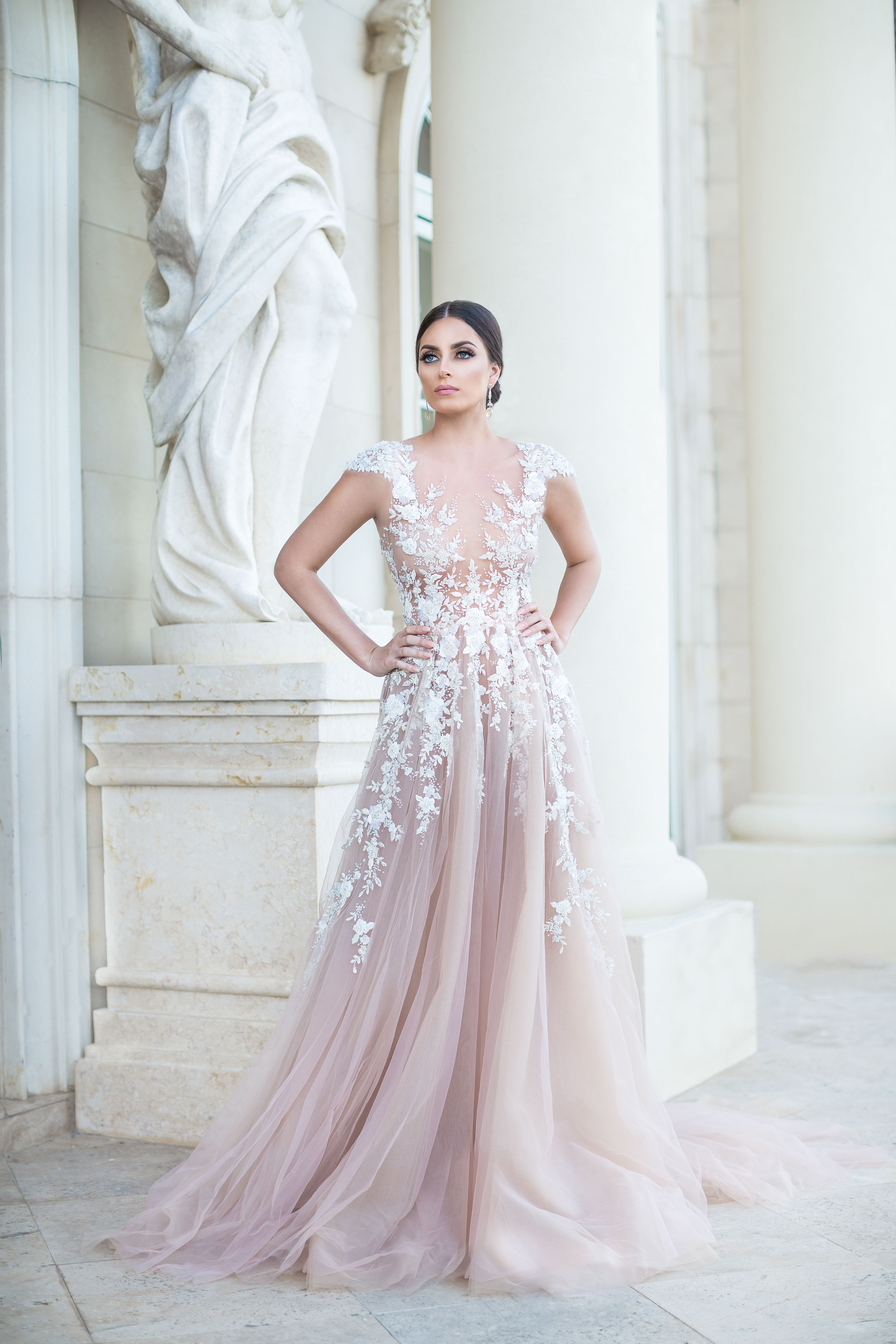 Embellished Pinkish Bridal Gown Atelier Pedram Couture Dinner