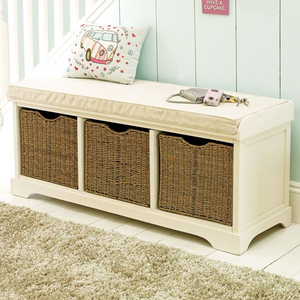Nice Cottage Collection Storage Bench   Great For A Hallway And Nice Seagrass  Baskets £149 From