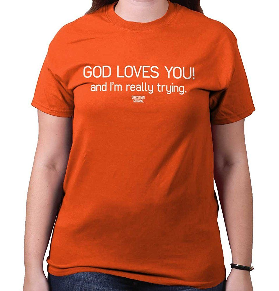 God Love You Christian Shirt Religious Gift Jesus Christ Cute T-Shirt Tee [tUnisex_06239] - $17.90 : dedeshopping