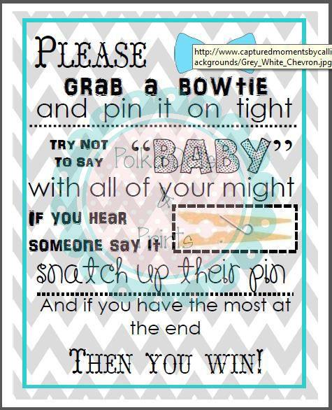 Bowtie Baby Shower Game