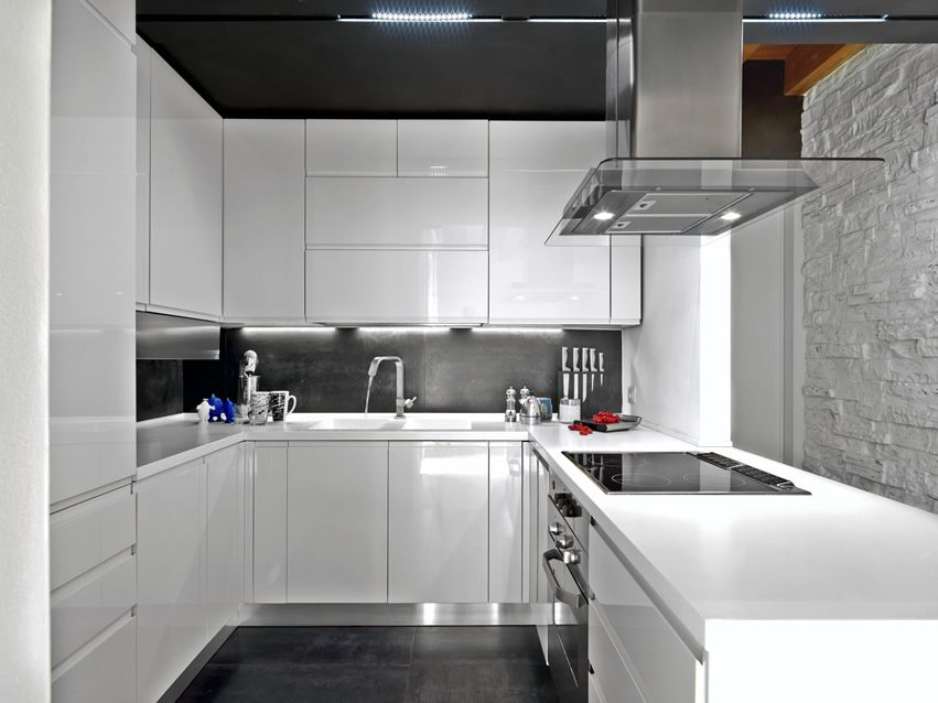 25 U Shaped Kitchen Designs Pictures White Modern Kitchen