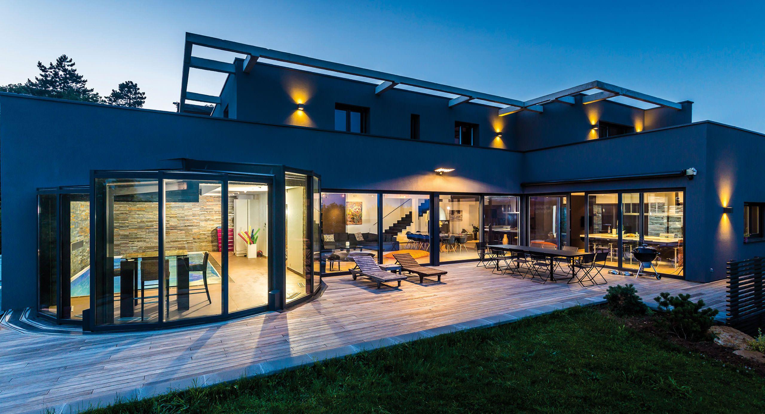 Piscine Véranda De Luxe Panoramique Avec Piscine Maison