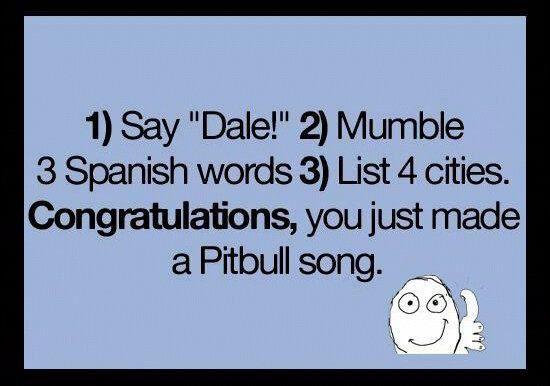 Pitbull Pitbull Songs Spanish Words Words