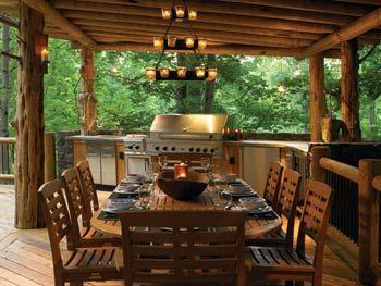 Surprising Logkitchen Houses Rustic Outdoor Kitchens Outdoor Best Image Libraries Barepthycampuscom
