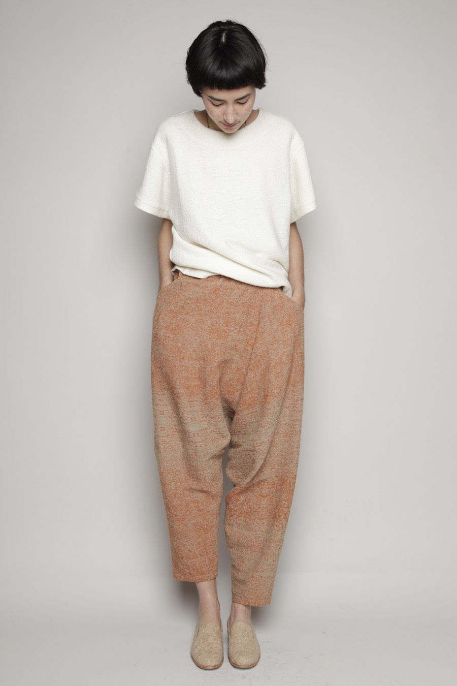 Anntian Drop Crotch Pant (Brown/Beige)