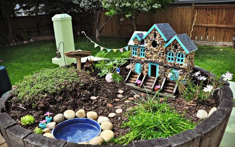 Mini Haus Für Den Miniatur Garten Selber Basteln Garten Mini
