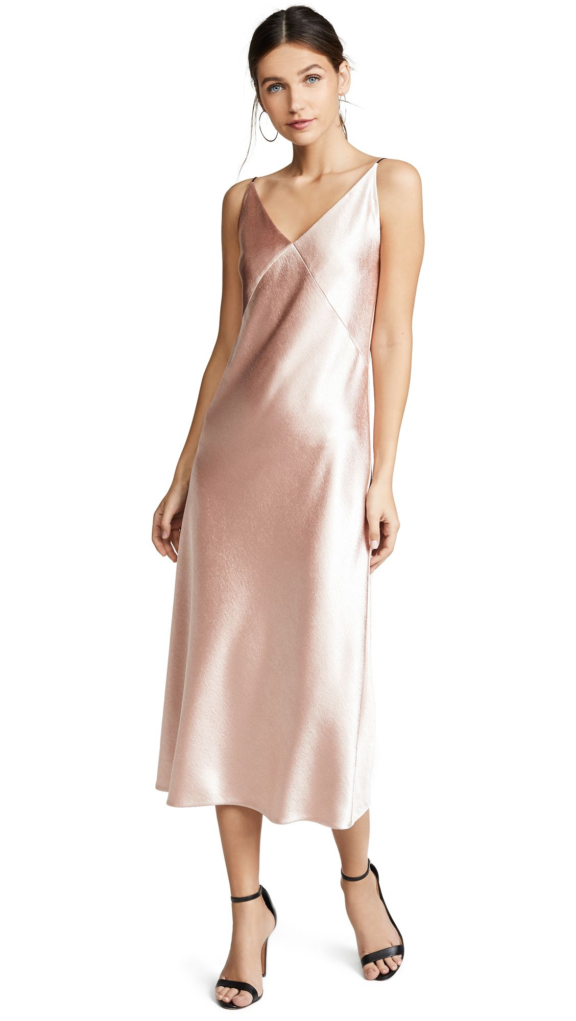 b7779750b5f V-Neck Bias Dress by Vince in Blush in 2019