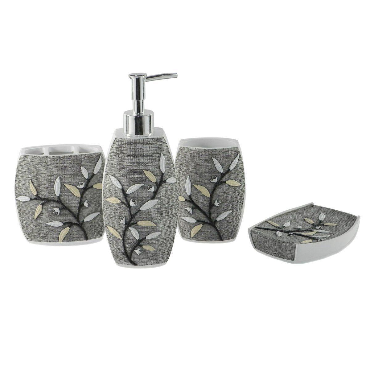 Ink Wonderland Bath Bathroom Accessories Set | Luxury bath, Bathroom ...
