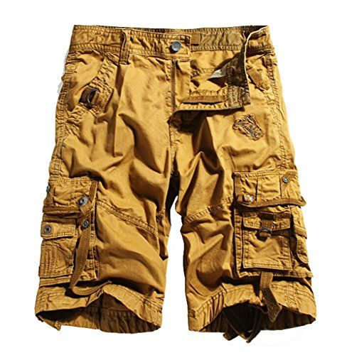 WenVen Men's Active Cargo Shorts Cotton Outdoor Wear Lightweight ...