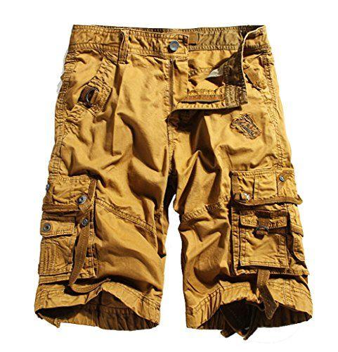 WenVen Men's Active Cargo Shorts Cotton Outdoor Wear Lightweight ...