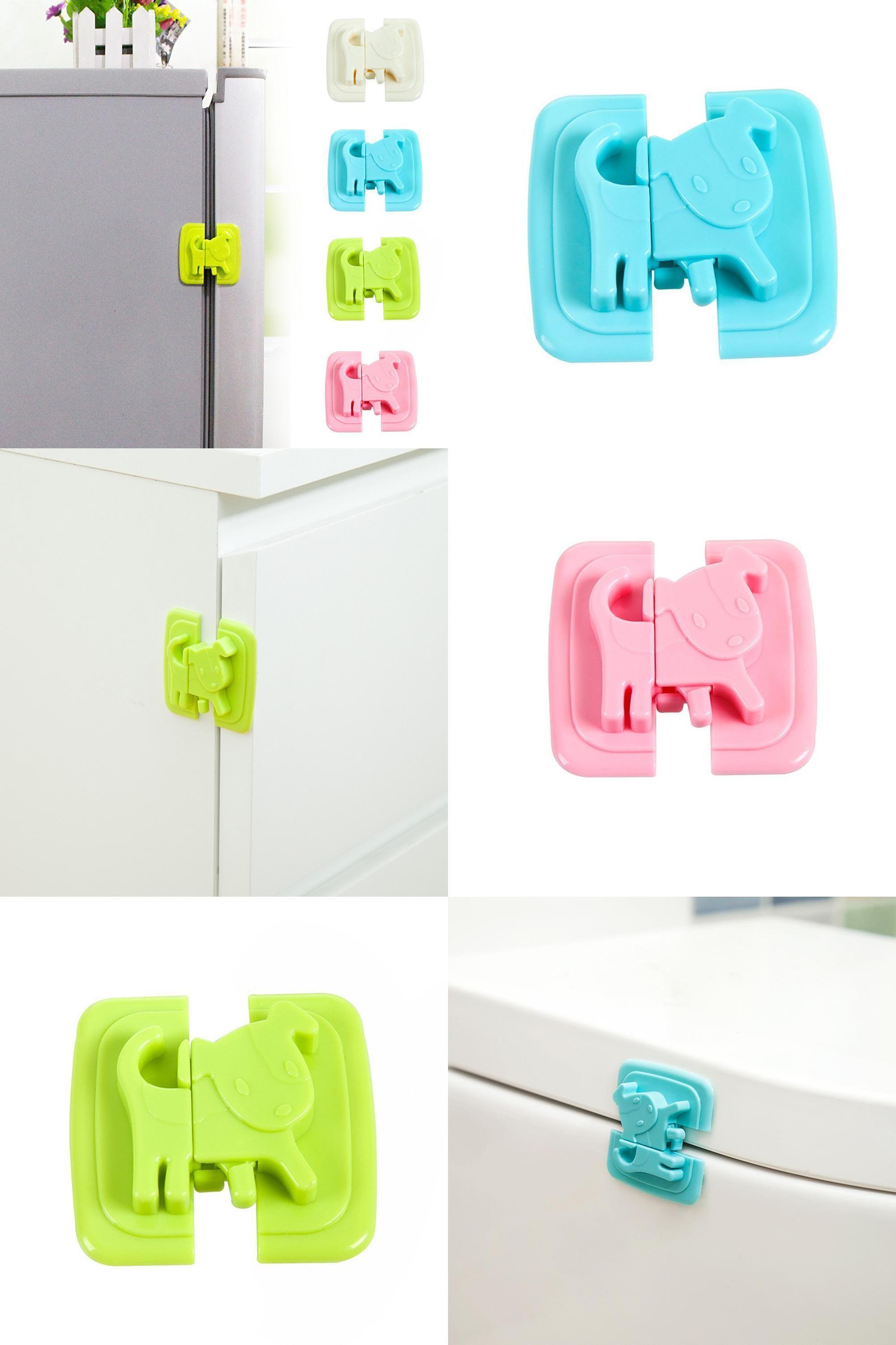 [Visit to Buy] Baby Care Locks Cartoon Shape Cupboard Door