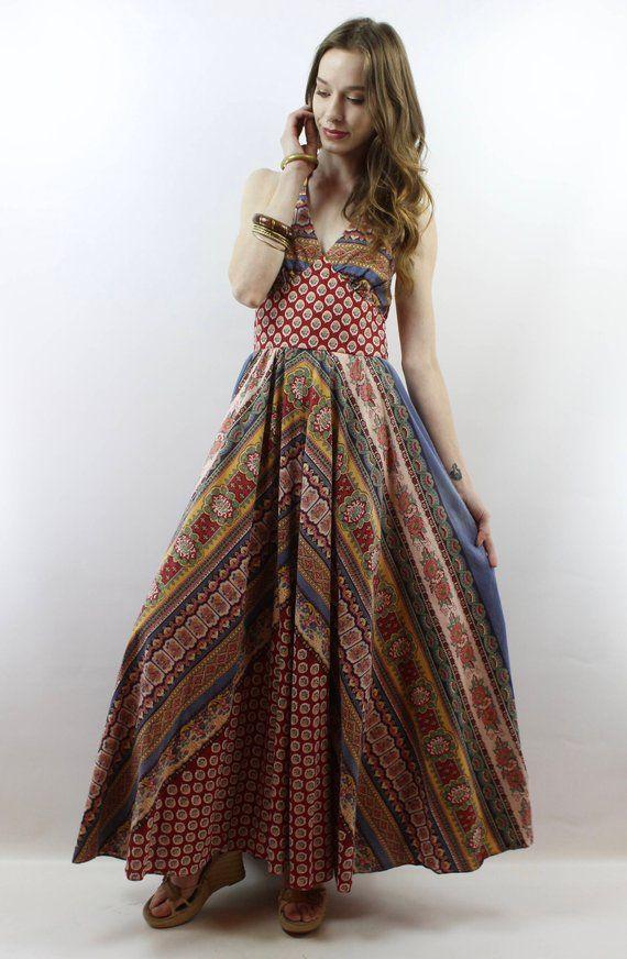 d1230d08e88 Hippie Dress Hippy Dress Bohemian Dress Festival Dress Boho Dress 1970s  Dress Vintage 70s Dress 70s