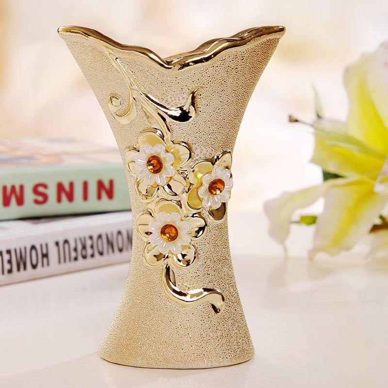 Grandeur Goldplated Ceramic Vases Floor Vase Large Vase Bud - Ceramic tall floor vases