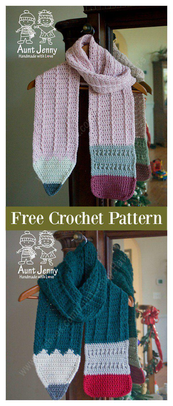 Pencil Scarf Free Crochet Pattern | Crochet | Pinterest | Tejido ...