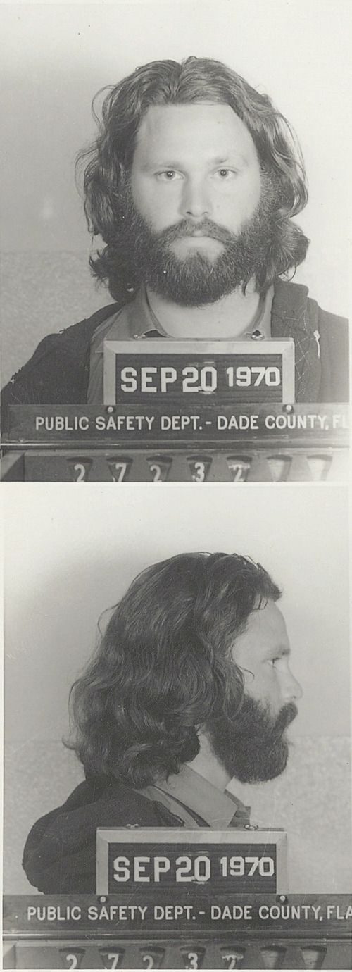 The Doors: Jim Morrison ( James Douglas Morrison) 1970 - Mug Shot. Pure Rock And Roll. ( psychedelic rock / photography )