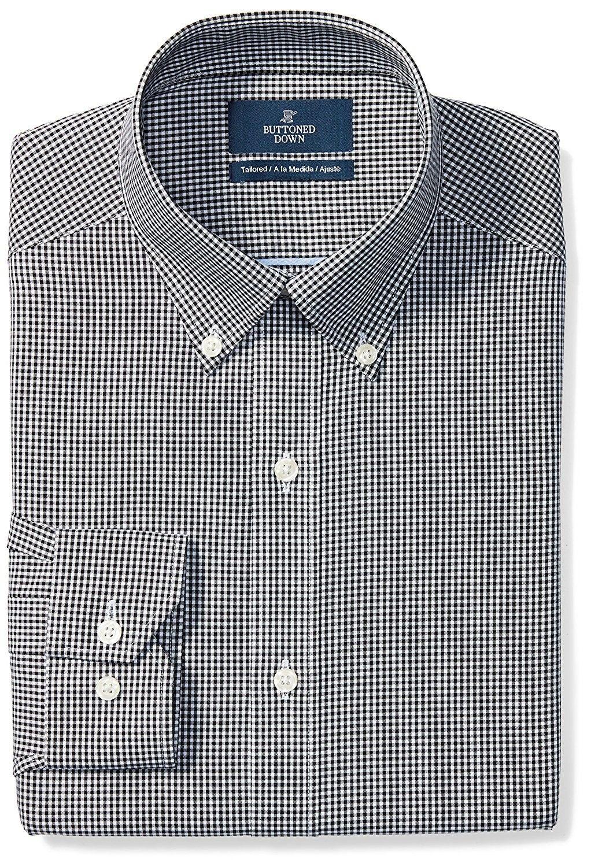 Men S Clothing Shirts Dress Shirts Men S Tailored Fit Button Collar Pattern Non Iron Dress Shirt Black Non Iron Dress Shirts Black Shirt Dress Shirt Dress [ 1500 x 1022 Pixel ]