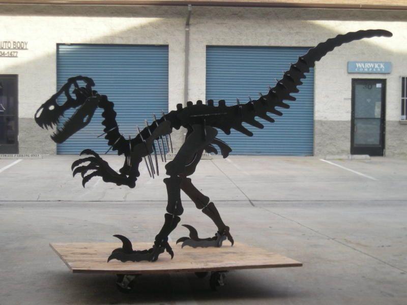 $1200 Dinosaur steel sculpture. Extra large. 10 feet long, 6 feet tall