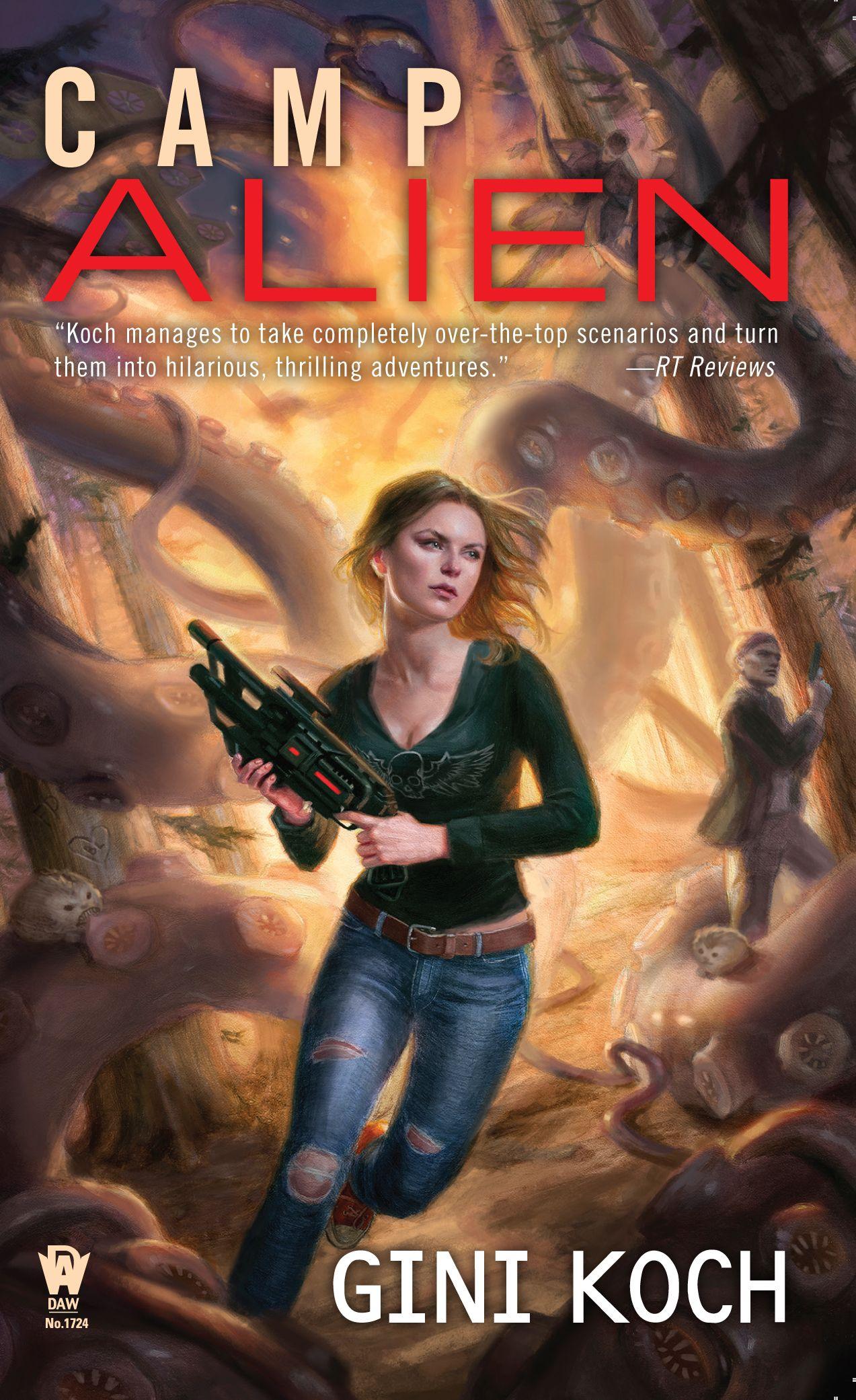 "Camp Alien, Book 13 in the Alien/Katherine ""Kitty"" Katt series, cover art by Lindsey Look, released May 3, 2016"