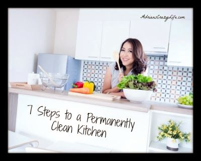 Clutterbugs: 7 Steps to a Permanently Clean Kitchen #AdriansCrazyLife #Organization #CleaningTips #LifeHacks