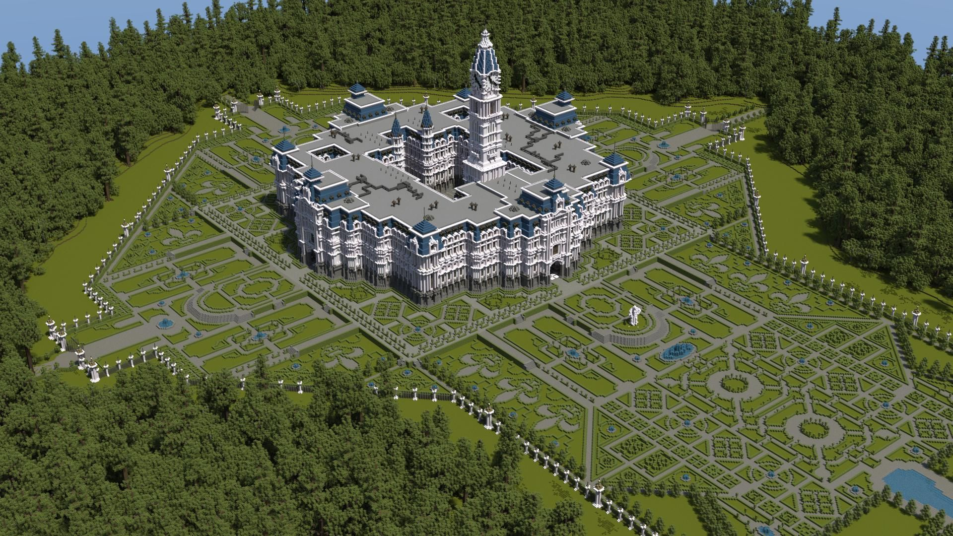 Minecraft formal gardens google search minecraft for Garden designs minecraft