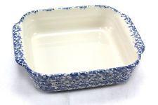 Henn Pottery 8 X 8 Casserole Blue Spongeware Made In The Usa