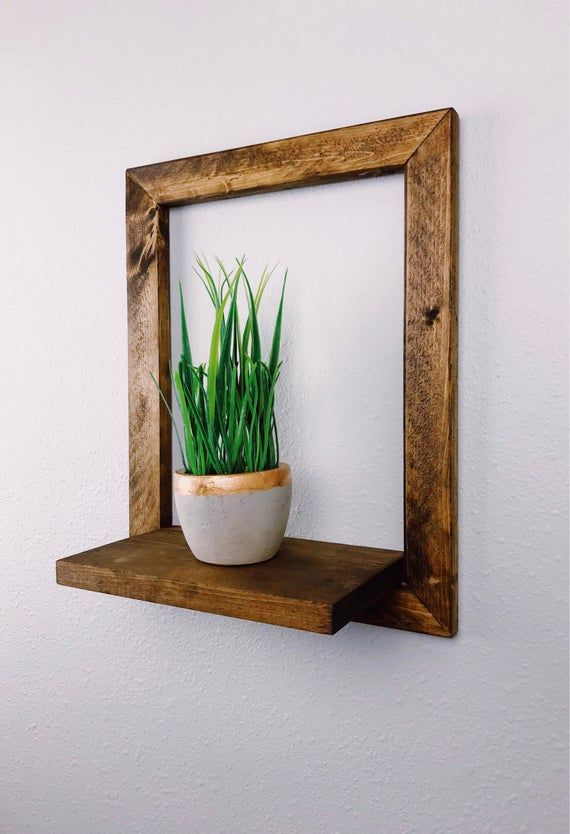 Plant Shelf - Framed Shelf - Wall Shelf - Hanging Shelf - Home Decor - Shelf - Plant Holder - Wall Decor - Succulent Shelf - Wall Art