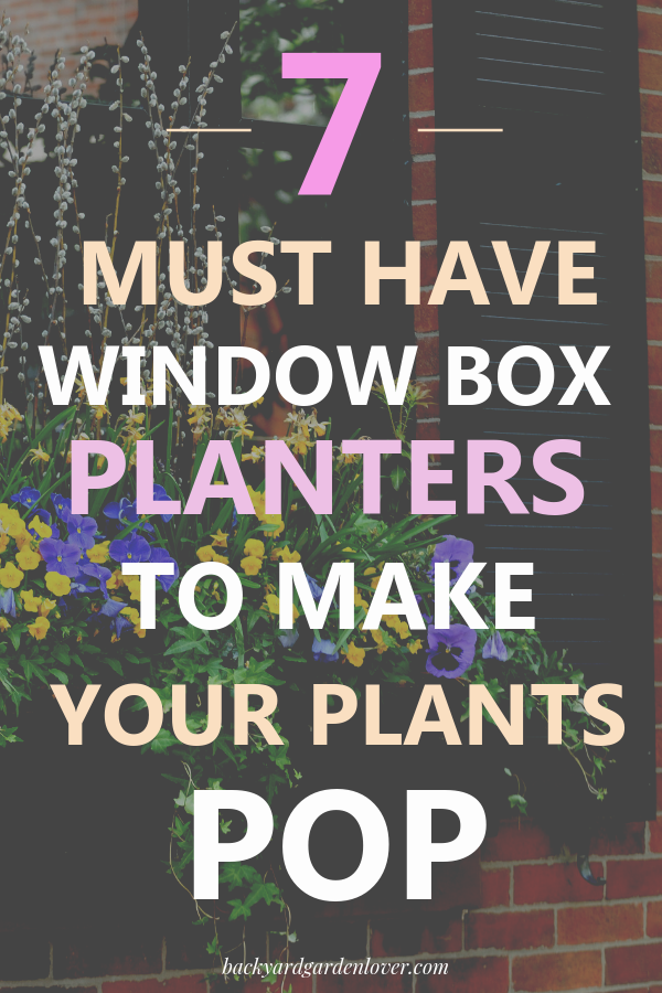 7 Window Box Planters That Make Your Plants Pop These beautiful window boxes will enhance the look of the flowers you use to beautify your windows. Take a peek for inspiration!
