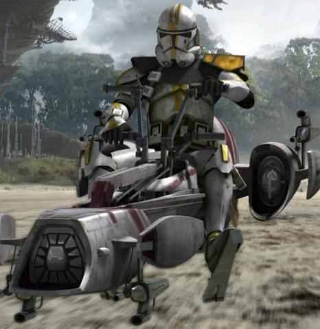 327th Star Corps trooper operating a BARC speeder.