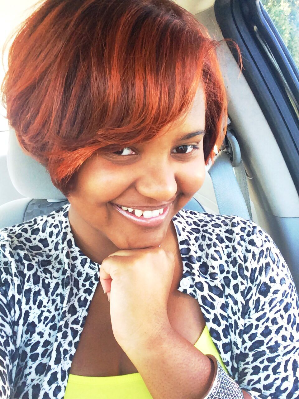 auburn redish hair color african