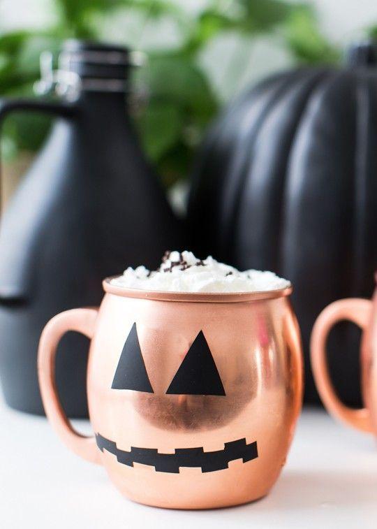 Easy Pumpkin Decal Five Minute Temporary Diy Halloween Glassware Diy Halloween Decorations Halloween Hacks Pumpkin Decals