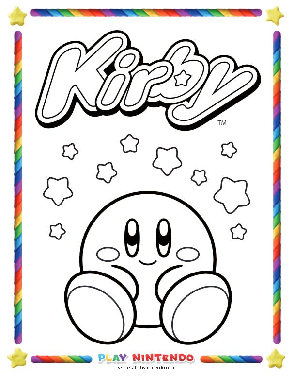Https Play Nintendo Com Activities Downloads Kirby Nintendo Coloring Pages Cool Coloring Pages Coloring Pages Coloring Books