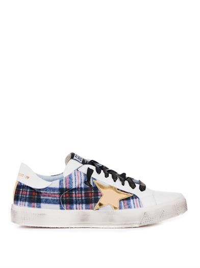 May low-top plaid trainers | Golden